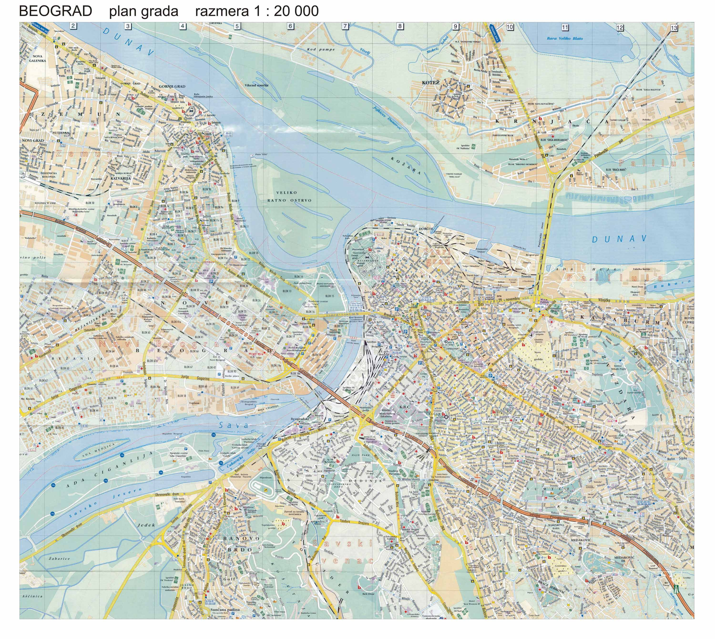 Belgrade Map | Maps Belgrade Map