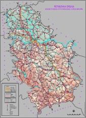 Mapy silnic a dálnic Srbsko
